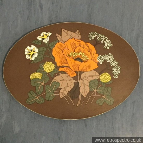 St Michael melamine trivet with orange flower