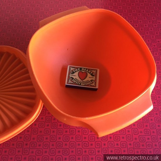 Orange Tupperware Servalier Bowl