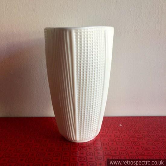 White Milk Glass Vase possibly Gullaskruf