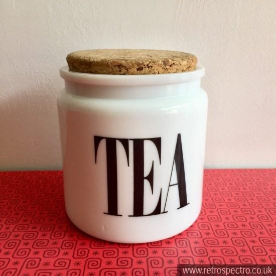 Vintage Tea storage jar with cork lid