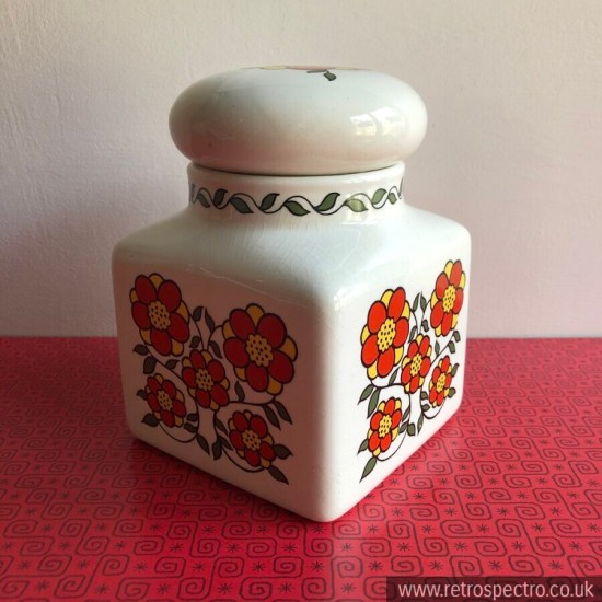 Taunton Vale Red Daisies Ceramic Storage Jar