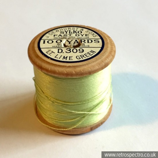 Sylko cotton reel D.309 Light Lime Green