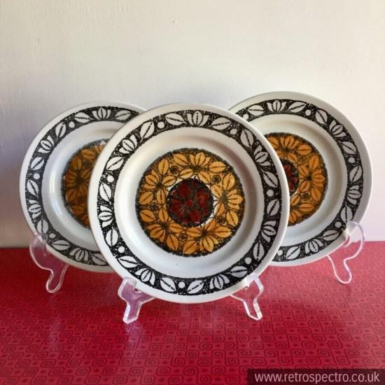 Broadhurst 70's Tashkent pattern Kathie Winkle design side plates