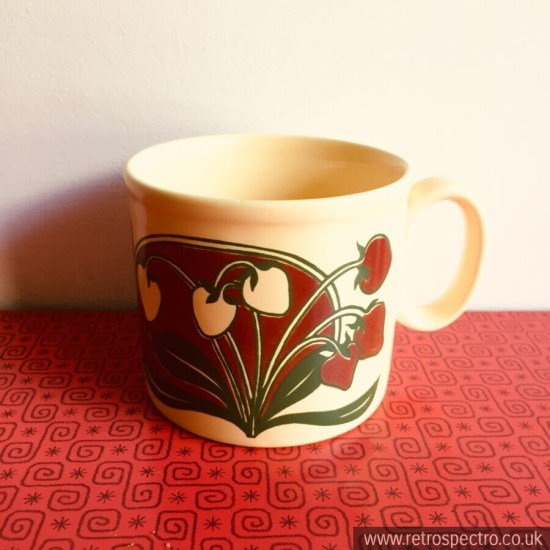 Kiln Craft cup with strawberry pattern