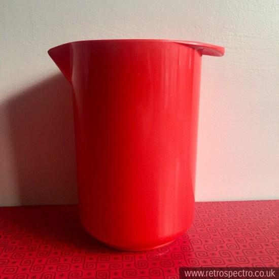 1970's Red Rosti Mepal Melamine 1 litre Jug