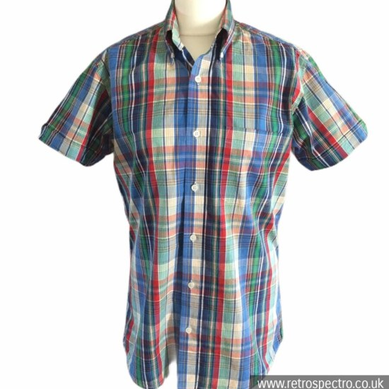 Skinhead button down short sleeve shirt