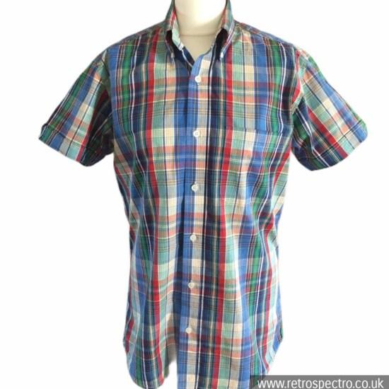 Skinhead button down short sleeve shirt