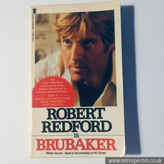 Robert Redford Is Brubacker - William Harrison 1st edition '80 New English Library