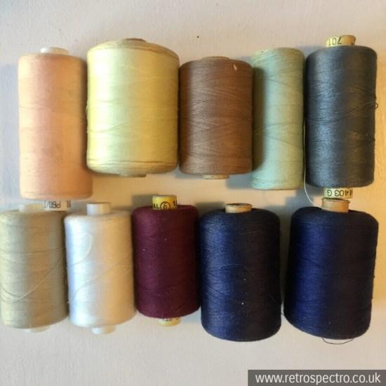 Vintage reels of thread