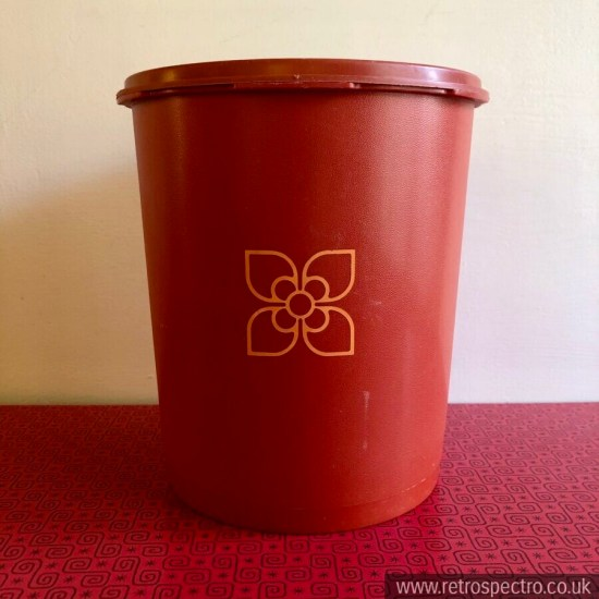 Orange Tupperware Container With Servalier Lid Large Size Vintage