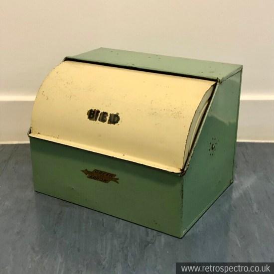 Vintage Large Bread Bin - Green Arrow