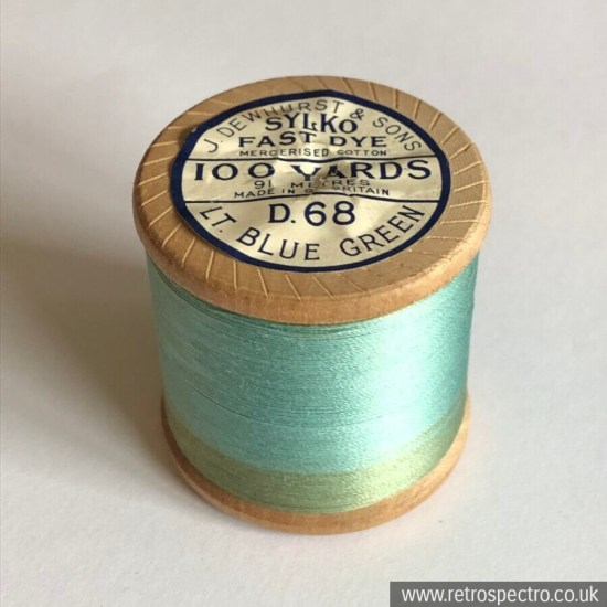 Sylko Cotton Reel - Lt. Blue Green D.68