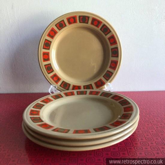 Vintage Staffordshire Side Plates