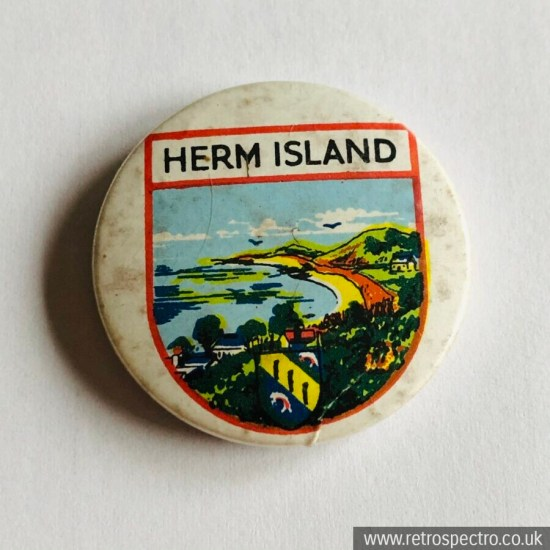 Vintage Herm Island Badge