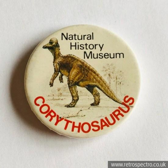 Vintage Natural History Museum Dinosaur Badge