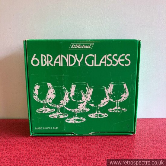 "Vintage St Michael ""Mayfair"" Brandy Glasses"