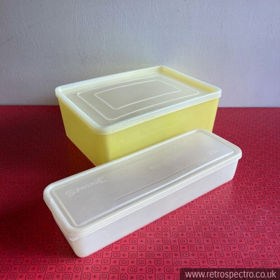 Vintage plastic storage container Supa-Ware similar to Tupperware