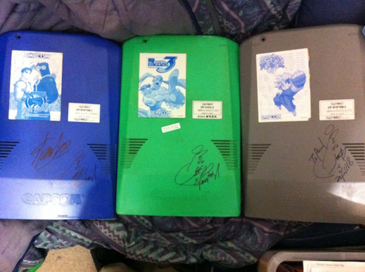 Autographed CPS2 boards