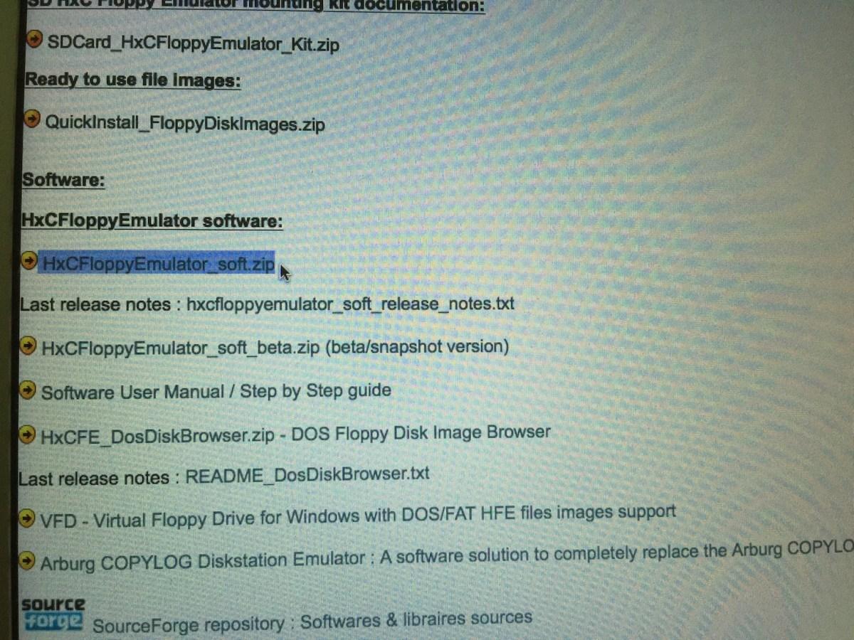 3 Downloading HXC Floppy Emulator Software