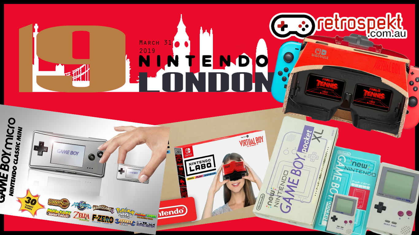 LABO Virtual Boy, Game Boy Micro Mini, Game Boy Pocket XL, Doug Bowser's Baby – Nintendo London 2019