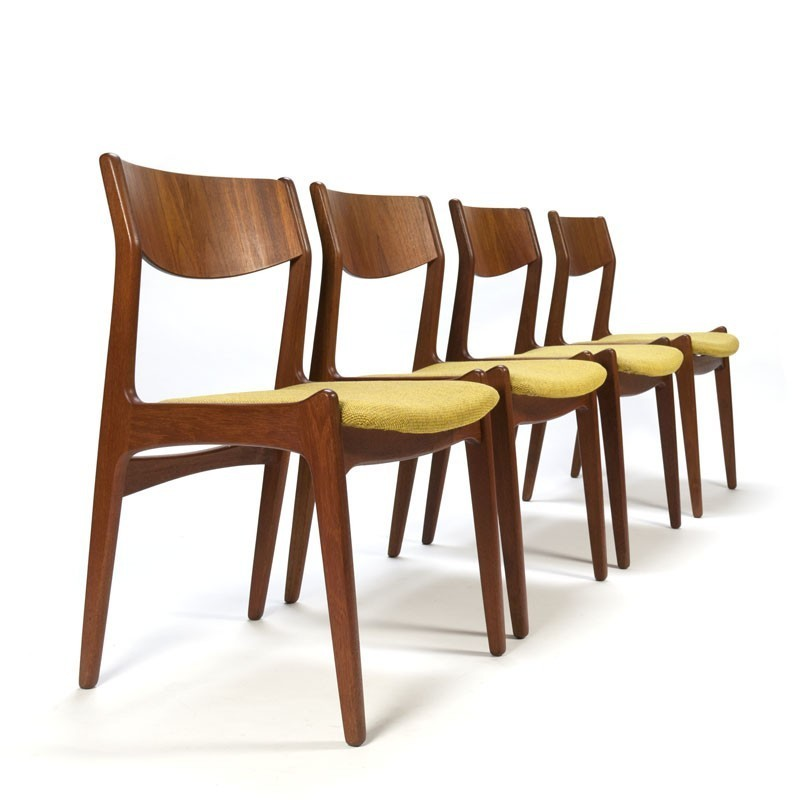 Vintage Dining Danish Chairs Teak