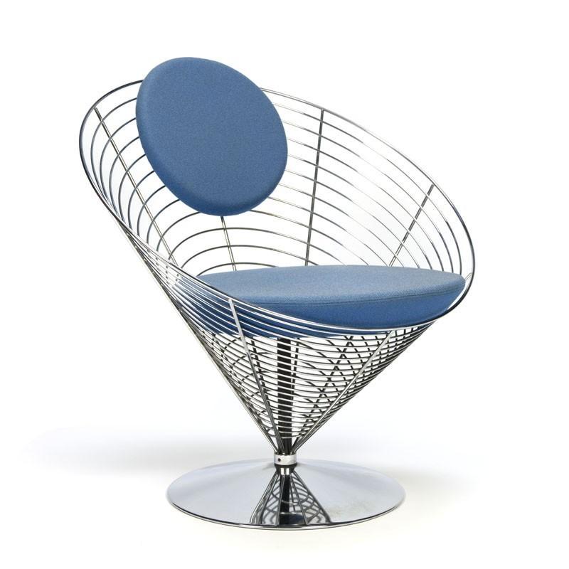 Vintage Wire Cone Chair Design Verner Panton Retro Studio