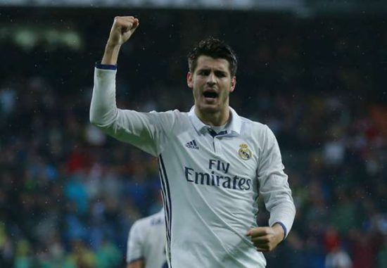 Picture: Morata looks good in a Man Utd jersey if he completes £60m switch