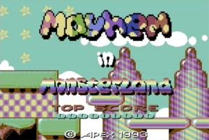 Mayhem in Monsterland title screen