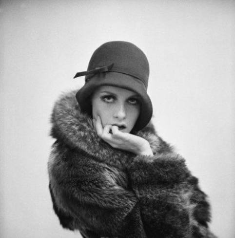 Twiggy Vintage Fur Hat