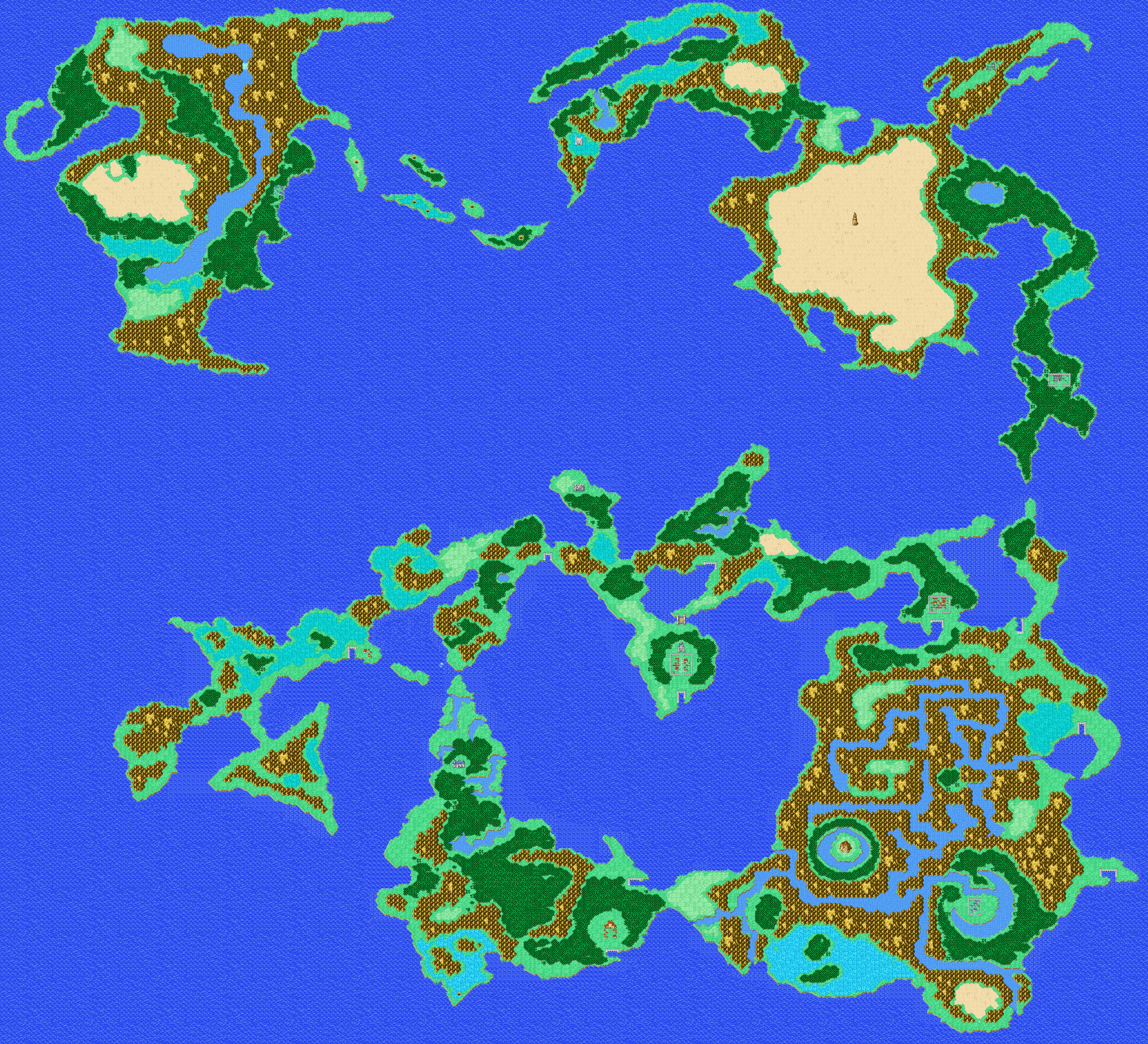 World Map Final Fantasy I Walkthrough