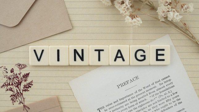 Que significa vintage en español