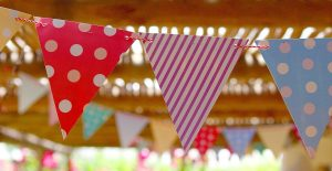 Banderines handmade para celebraciones vintage