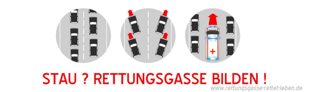 Rettungsgasse banner _ strich weg