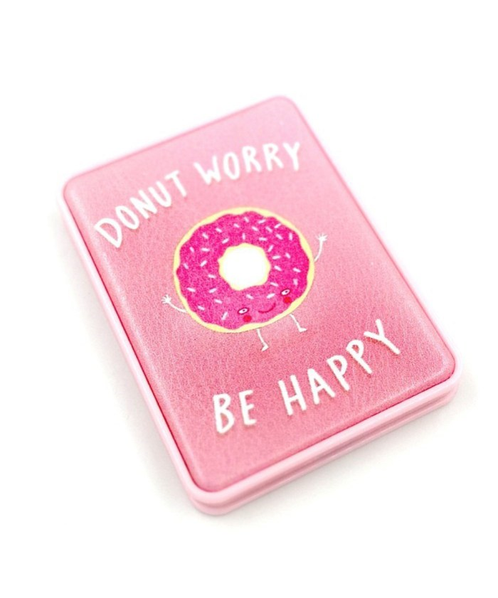 Donuts Design Pink color Compact Mirror