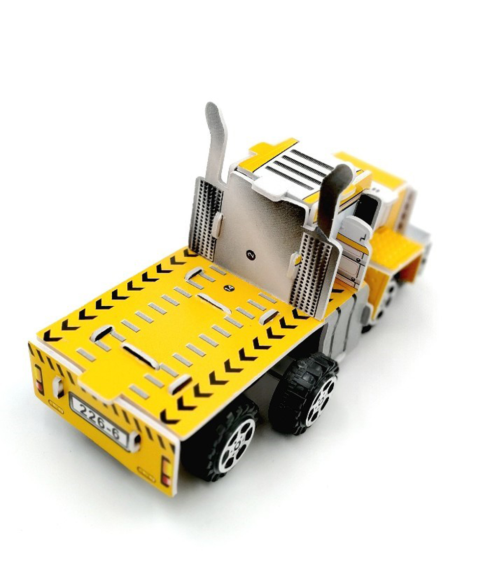 DIY Pull Back Container Truck Puzzle for Kids return gifts