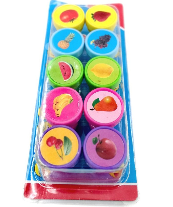 Pack of 10 Fruit theme Stamps set