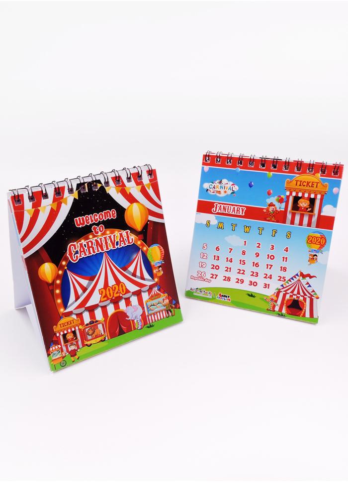 carnival theme calendar