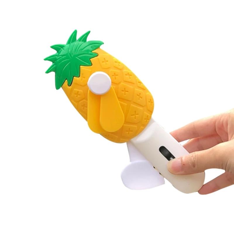 cartoon hand fan online india fruits theme carrot shape