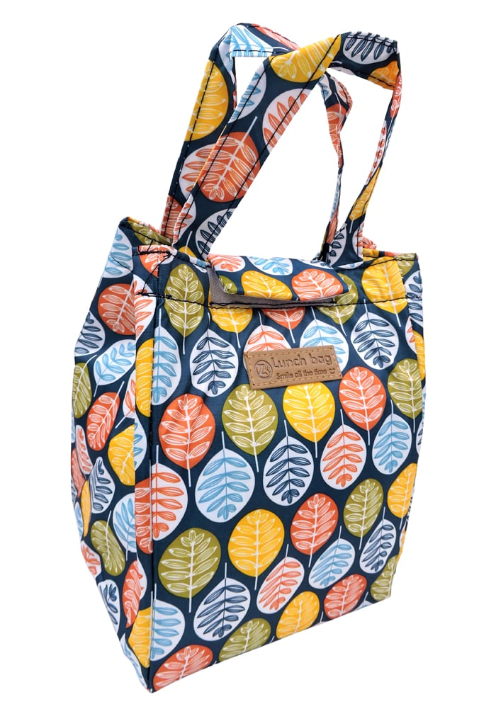 Leaf design insulated thermal stylish lunch bags for adults kids