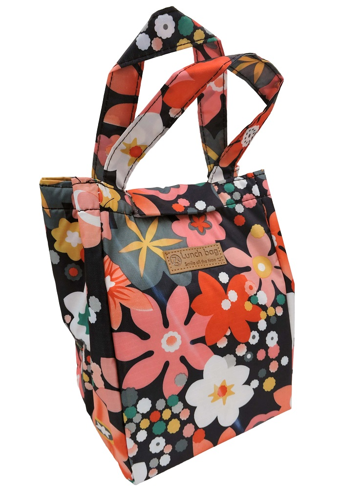 flower print big size lunch bags for women and kids