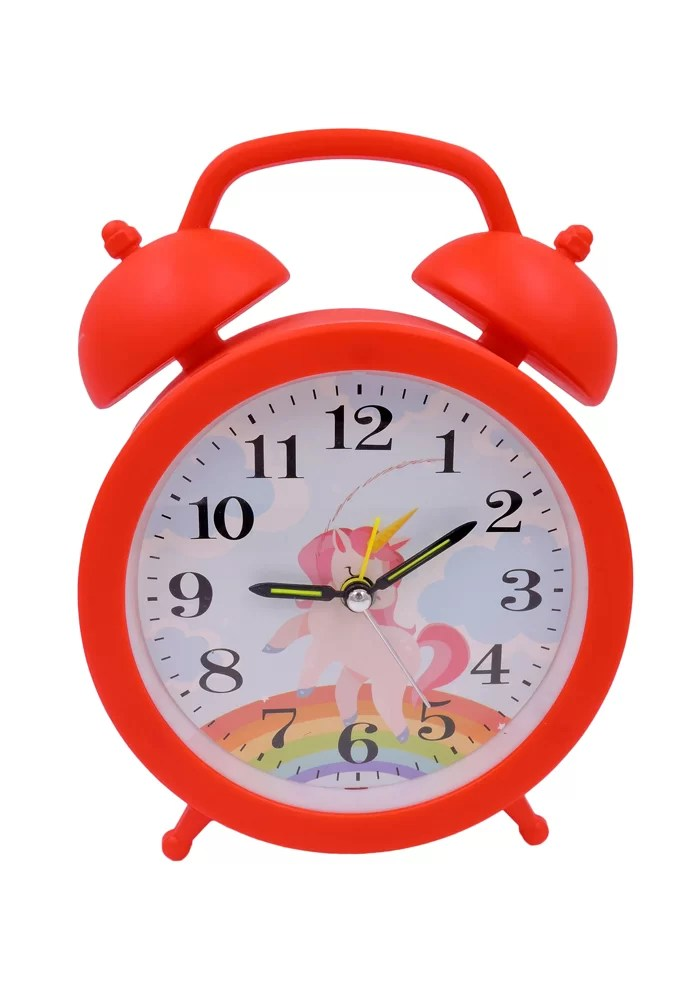unicorn theme red color children alarm clock online india