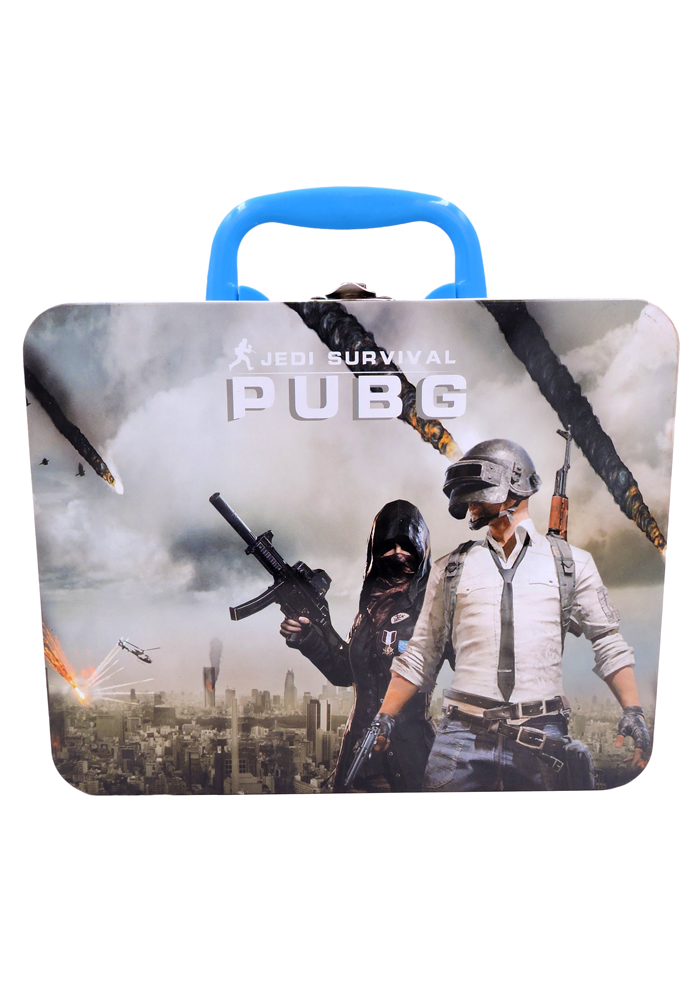 Pubg themed birthday party metal box tin container