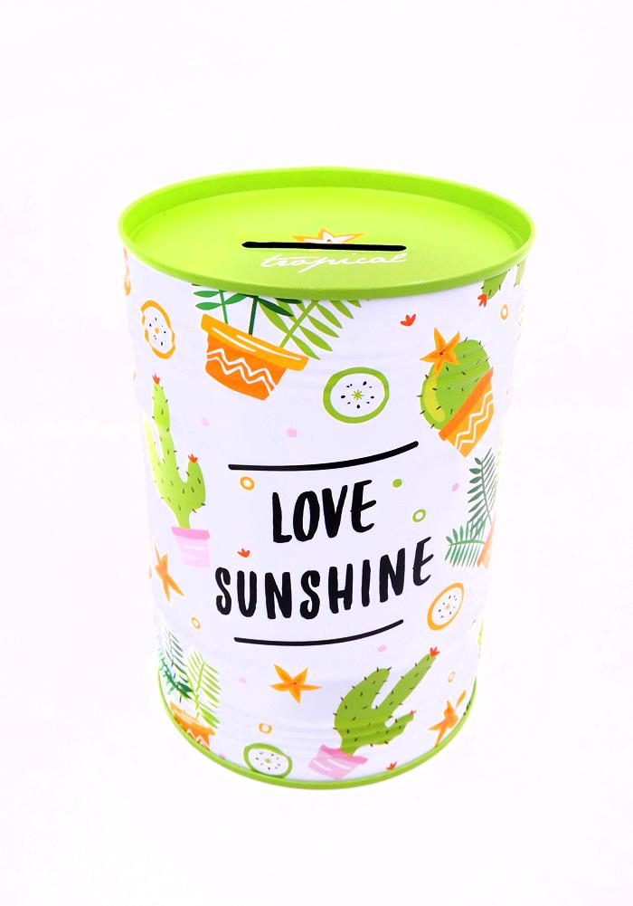 love sunshine metal piggy bank for kids-money bank