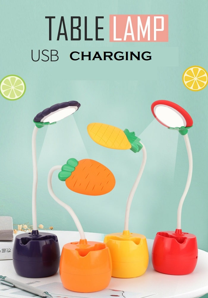 fruit design fancy study lamp table lamp with usb charger online india