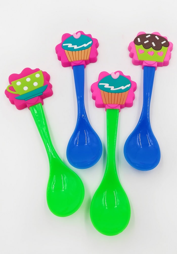 cup cake theme return gifts spoon lunch box