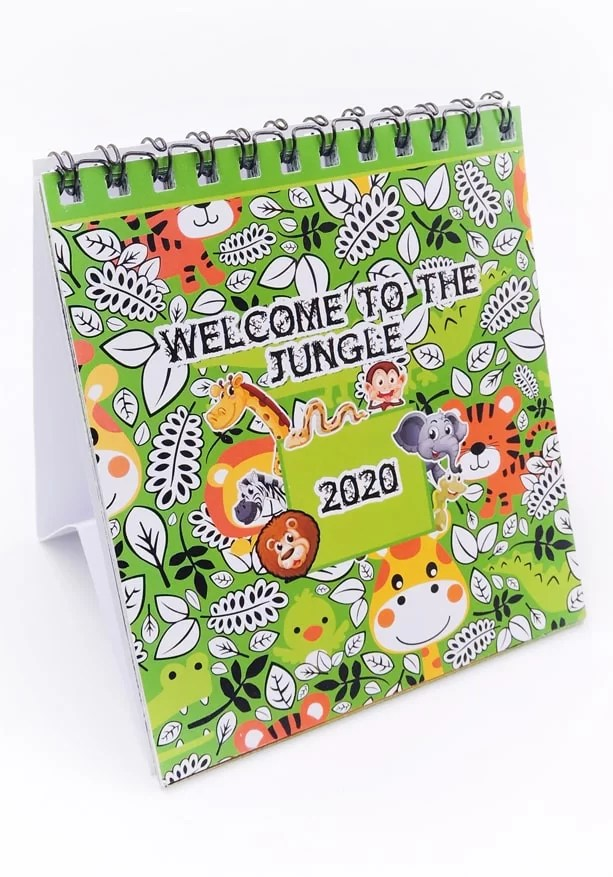 jungle or animal theme calendar for kids