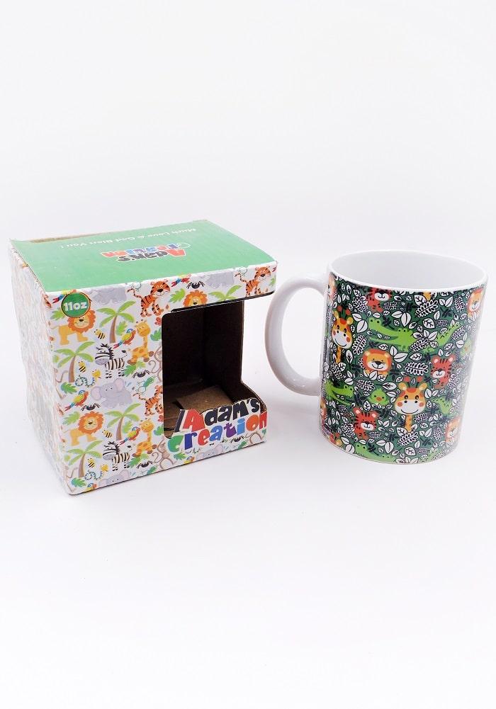 animal print mug for gifting