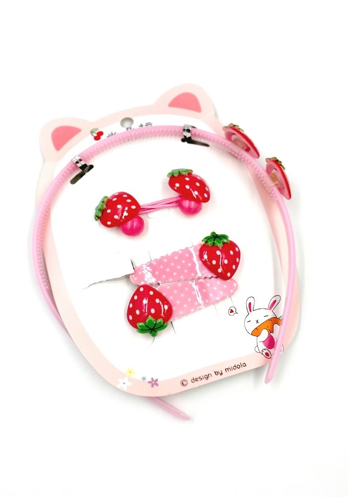 strawberry theme hair band for girls