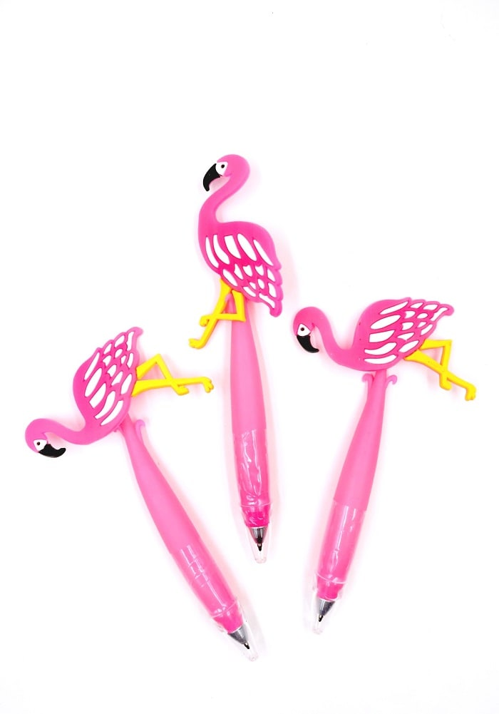 fancy cute cartoon pens flamingo theme return gifts birthday party