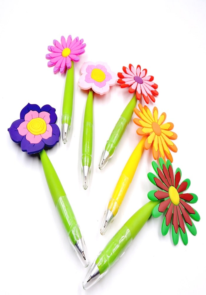 flower theme pens ball pen